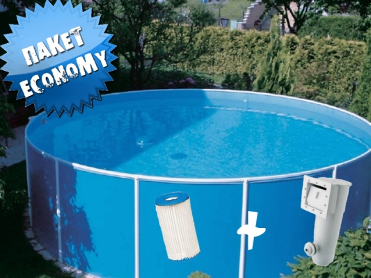 Collapsible pools Azuro 300B with filtration - packet Economy ...