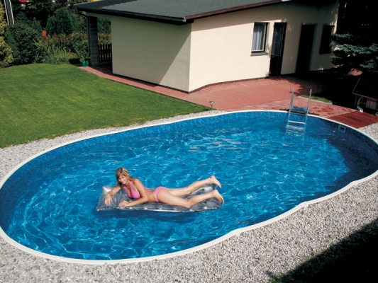 Collapsible pools Azuro 405 DL | Prefabricated swimming pools ...